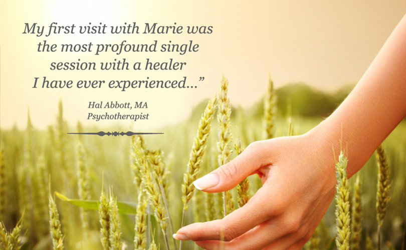 My first visit with Marie was the most profound single session with a  healer I have ever experienced.